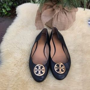 Tory Burch Flats Golden Logo 8